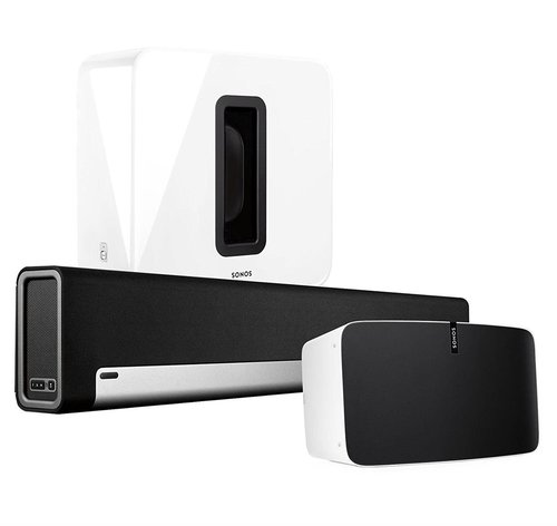 View Larger Image of Entertainment Set with Sonos Play:5 Wireless Smart Speaker, PLAYBAR Wireless Sound Bar, & SUB Wireless Subwoofer