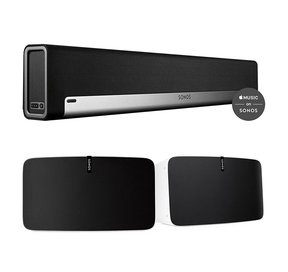 Two Room Premium Set with Sonos Play:5 Wireless Smart Speakers & PLAYBAR Wireless Sound Bar
