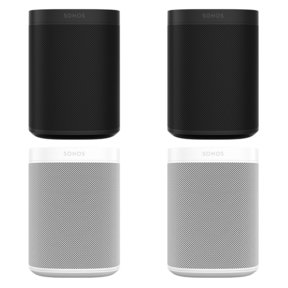 Four Room Set with Sonos One Voice-Controlled Smart Speakers