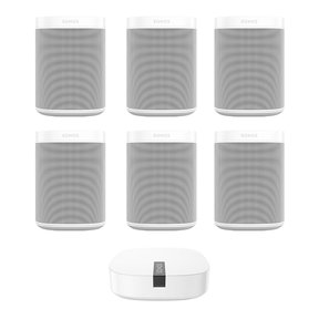 Entertainment Set with (6) Sonos One Voice-Controlled Smart Speakers & BOOST Enterprise Grade Wireless Adapter