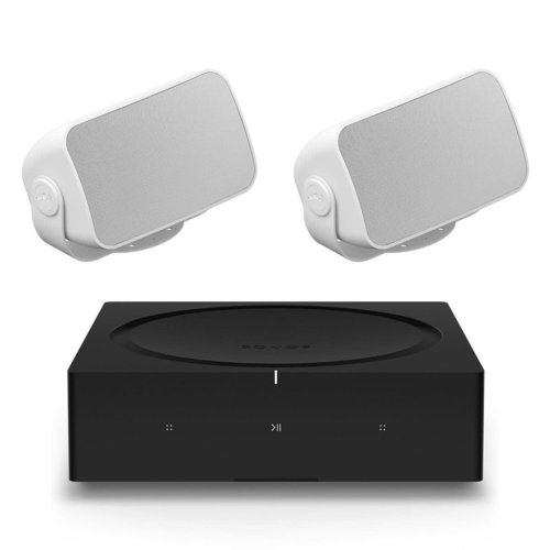 View Larger Image of OUTDRWW1 Outdoor Architectural Speaker Pair with Amp Wireless Hi-Fi Player