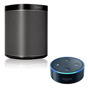 PLAY:1 All-In-One Compact Wireless Music Streaming Speaker with Amazon Echo Dot