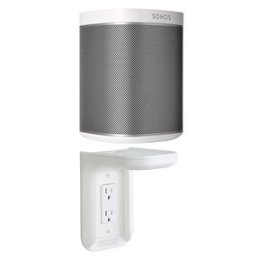 PLAY:1 All-In-One Compact Wireless Music Streaming Speaker with Outlet Shelf