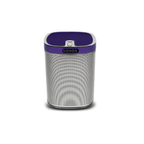 Play:1 All-In-One Wireless Music Streaming Speaker (White) with Flexson ColourPlay Skin (Purple)