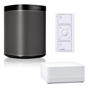 PLAY:1 All-In-One Wireless Music Streaming Speaker with Caseta Wireless Smart Bridge and Pico Remote Control (White)