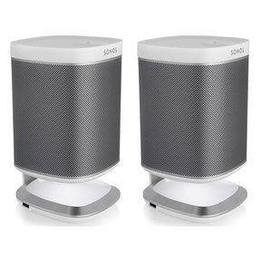 Play:1 All-In-One Wireless Music Streaming Speakers with Flexson Illuminated Charging Stands - Pair