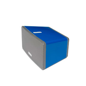 Play:3 All-in-One Wireless Music Streaming Speaker (White) with Flexson ColourPlay Skin (Blue)