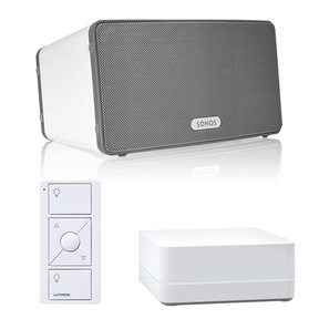 PLAY:3 All-In-One Wireless Music Streaming Speaker with Caseta Wireless Smart Bridge and Pico Remote Control