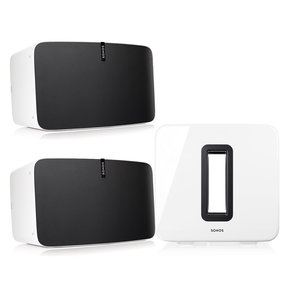 Two Room Premium Set with Sonos Play:5 Wireless Smart Speakers & SUB Wireless Subwoofer