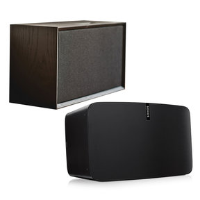 PLAY:5 - Ultimate Wireless Smart Speaker for Streaming Music with Leon ToneCase Hardwood Cabinet