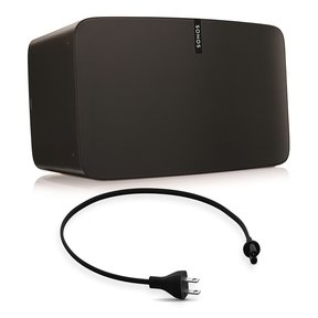 PLAY:5 - Ultimate Wireless Smart Speaker for Streaming Music with Short Power Cable (Black)