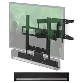 PLAYBAR Wireless Streaming HiFi Sound Bar with Flexson Cantilever Mount (Black)