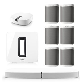 PLAYBASE Multi-Room Whole House Home Theater System with PLAY:1 Speakers, SUB Wireless Subwoofer and BOOST Wireless Adapter
