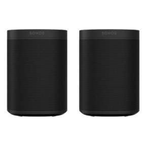Two Room Set with Sonos One Gen 2 - Smart Speaker with Alexa Voice Control Built-In. Compact Size with Incredible Sound for Any Room