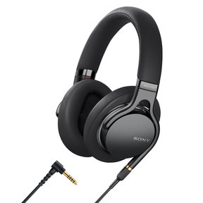 MDR1AM2B Wired High-Resolution Audio Over-Ear Headphones with Built-In Remote and Microphone (Black)