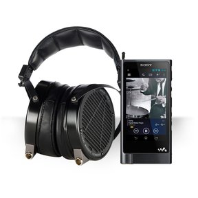 NW-ZX2 Walkman Hi-Res Digital Music Player Package with Audeze LCD-X Reference-Level Over-Ear Headphones (Anodized Aluminum with Lambskin Leather)