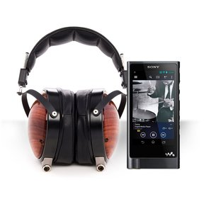 NW-ZX2 Walkman Hi-Res Digital Music Player Package with Audeze LCD-XC Closed-Back Over-Ear Headphones (Bubinga, with Lambskin Leather)