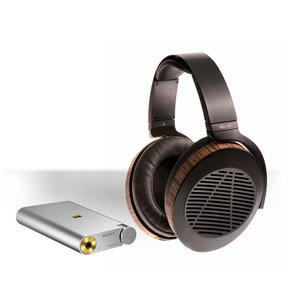 PHA-1A Portable Hi-Res DAC and Headphone Amplifier (Silver) Package with Audeze EL-8 Open-Back Over-Ear Headphones (Black)