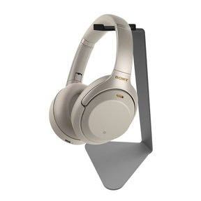 WH-1000XM3 Wireless Noise Cancelling Headphones with Kanto H1 Stand (Silver)