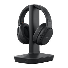 WH-L600 Digital Surround Wireless Over-Ear Headphones with Charging Stand (Black)