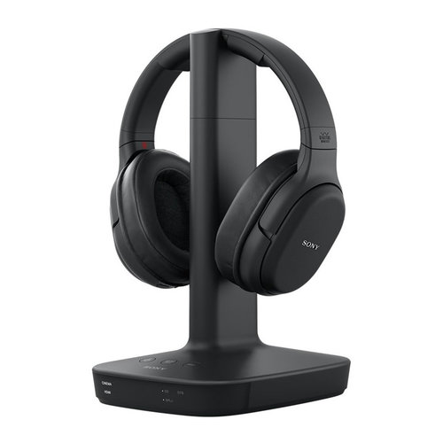 View Larger Image of WH-L600 Digital Surround Wireless Over-Ear Headphones with Charging Stand (Black)