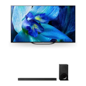"""XBR-55A8G 55"""" BRAVIA OLED 4K HDR TV and HT-X9000F 2.1-Channel Dolby Atmos Sound Bar with Subwoofer"""