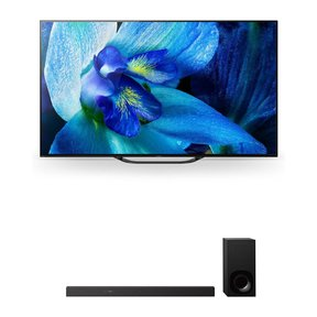 """XBR-55A8G 55"""" BRAVIA OLED 4K HDR TV and HT-Z9F 3.1-Channel Dolby Atmos Soundbar with Subwoofer"""