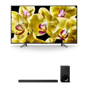 """XBR-55X800G 55"""" 4K HDR Ultra HD Smart TV and HT-X9000F 2.1-Channel Dolby Atmos Sound Bar with Subwoofer"""