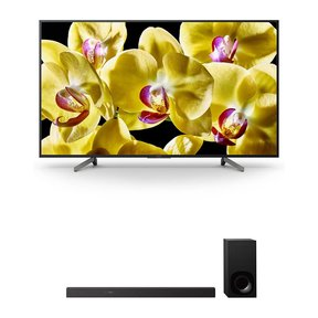 """XBR-55X800G 55"""" 4K HDR Ultra HD Smart TV and HT-Z9F 3.1-Channel Dolby Atmos Sound Bar with Subwoofer"""