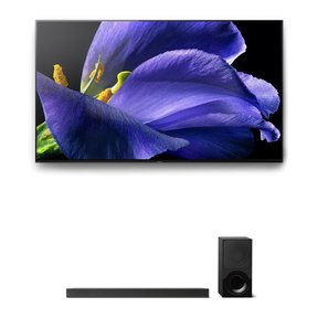 """XBR-65A9G 65"""" BRAVIA OLED 4K UHD HDR TV and HT-X9000F 2.1-Channel Dolby Atmos Sound Bar with Subwoofer"""