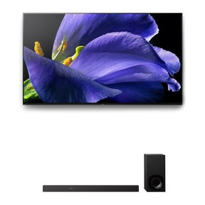 """XBR-65A9G 65"""" BRAVIA OLED 4K UHD HDR TV and HT-Z9F 3.1-Channel Dolby Atmos Sound Bar with Subwoofer"""