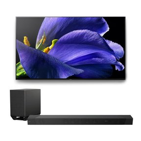 "XBR-65A9G 65"" BRAVIA OLED 4K UHD HDR TV with HT-ST5000 7.1.2ch 800W Dolby Atmos Sound Bar"