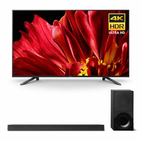 "XBR-65Z9F 65"" MASTER Series BRAVIA 4K HDR UHD TV and HT-X9000F 2.1-Channel Dolby Atmos Soundbar with Subwoofer"