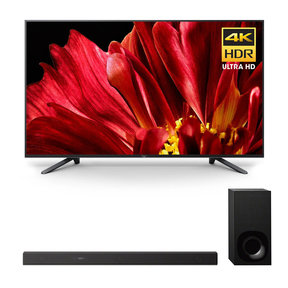"XBR-65Z9F 65"" MASTER Series BRAVIA 4K HDR UHD TV and HT-Z9F 3.1-Channel Dolby Atmos Sound Bar with Subwoofer"
