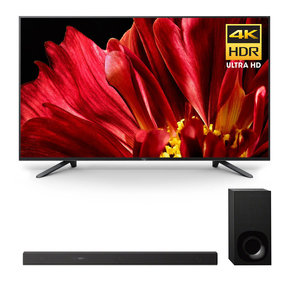"""XBR-75Z9F 75"""" MASTER Series BRAVIA 4K HDR UHD TV and HT-Z9F 3.1-Channel Dolby Atmos Sound Bar with Subwoofer"""