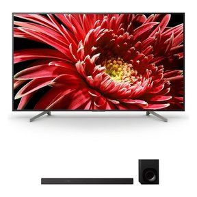 """XBR85X850G 85"""" BRAVIA 4K Ultra HD HDR TV and HT-Z9F 3.1-Channel Dolby Atmos Sound Bar with Subwoofer"""