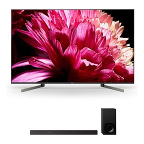 """XBR85X950G 85"""" BRAVIA 4K Ultra HD HDR Smart TV and HT-Z9F 3.1-Channel Dolby Atmos Sound Bar with Subwoofer"""