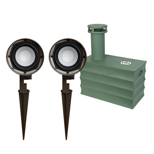 """View Larger Image of Boom Tomb 10"""" In-Ground Subwoofer with OG-Three Landscape Speakers - Pair"""