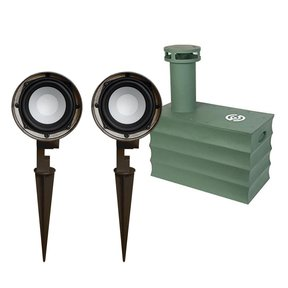 """Boom Tomb 10"""" In-Ground Subwoofer with OG-Three Landscape Speakers - Pair"""