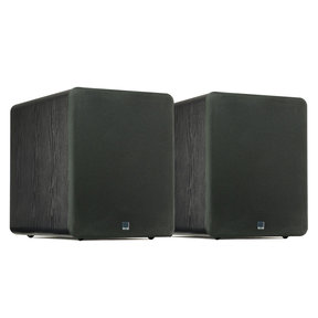 """PB-1000 300 Watt DSP Controlled 10"""" Ported Subwoofers - Pair (Black Ash)"""