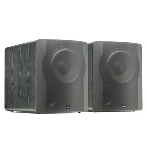 """PB-2000 500 Watt DSP Controlled 12"""" Ported Subwoofers - Pair (Black Ash)"""