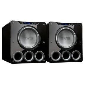 """PB-4000 13.5"""" 1200W Ported Box Subwoofers - Pair (Piano Gloss Black)"""