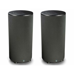 "PC-2000 500 Watt DSP Controlled 12"" Cylinder Subwoofers - Pair (Premium Black Ash)"