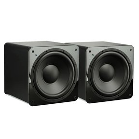 "SB-1000 300 Watt DSP Controlled 12"" Ultra Compact Sealed Subwoofers - Pair (Piano Gloss Black)"