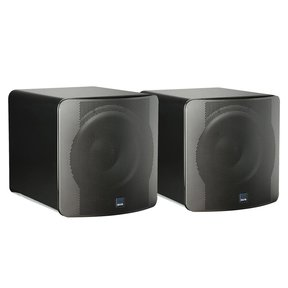"""SB-2000 500 Watt DSP Controlled 12"""" Compact Sealed Subwoofers - Pair (Piano Gloss Black)"""