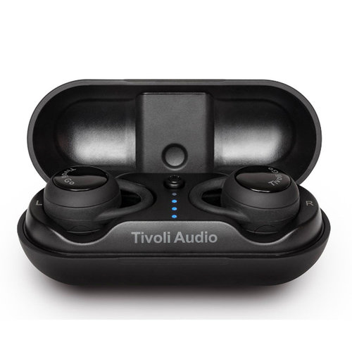 View Larger Image of Fonico True Wireless Earbuds with Voice Control (Black)