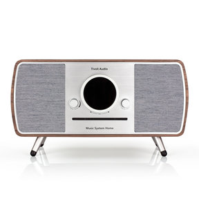 Music System Home All-In-One Music System with Amazon Alexa Voice Assistance (Walnut)