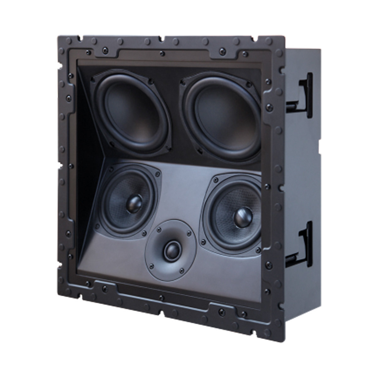 Can only use in-ceiling speakers in home theater install ...