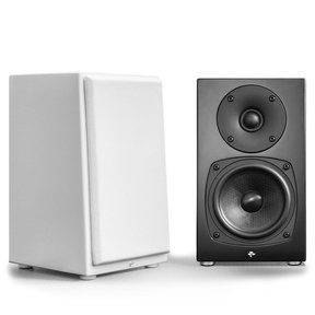 KIN Mini 2-Way Ultra-Compact Monitor Speakers - Pair - White