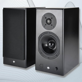 KIN Play Powered Bookshelf Speakers - Pair (Black Satin)